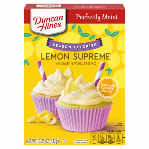 Duncan Hines Signature Perfectly Moist Lemon Supreme Cake Mix Perspective: front