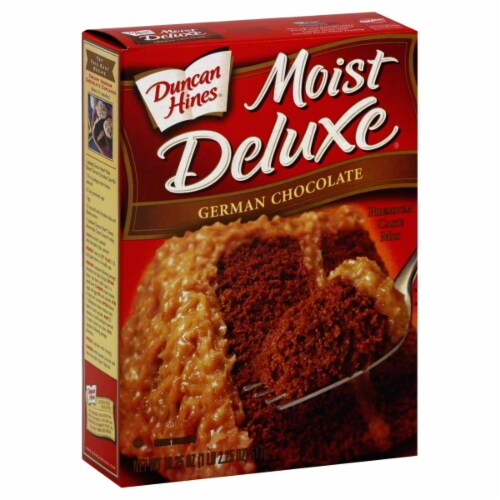 Foods Co  - Duncan Hines Moist Deluxe German Chocolate Cake Mix, 16 5 Oz