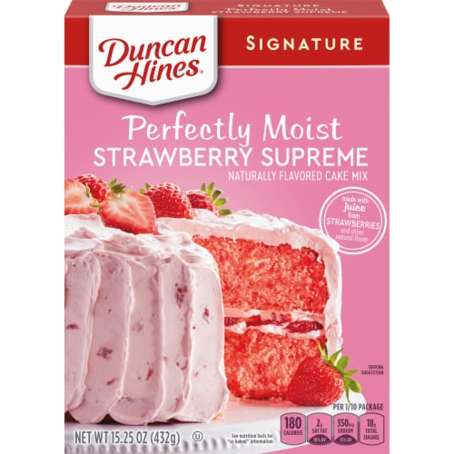 Duncan Hines Signature Strawberry Supreme Cake Mix Perspective: front