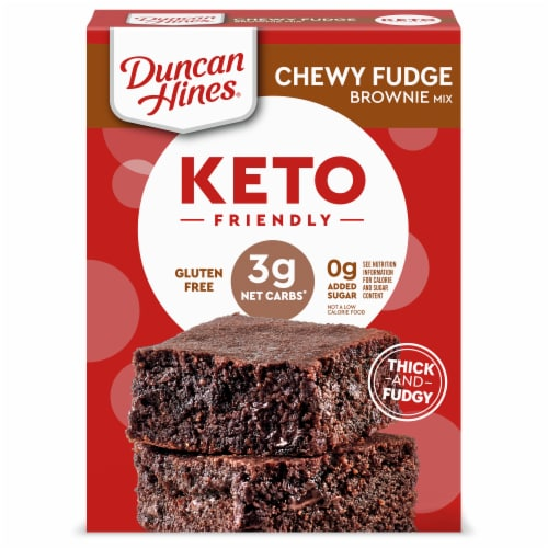 Duncan Hines Keto Friendly Chewy Fudge Brownie Mix Perspective: front