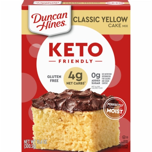 Duncan Hines Keto Friendly Classic Yellow Cake Mix Perspective: front