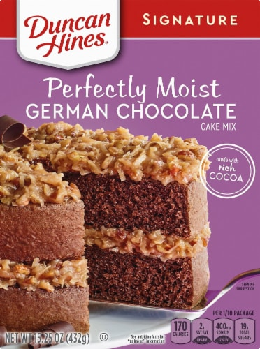 Duncan Hines Signature German Chocolate Cake Mix Perspective: front