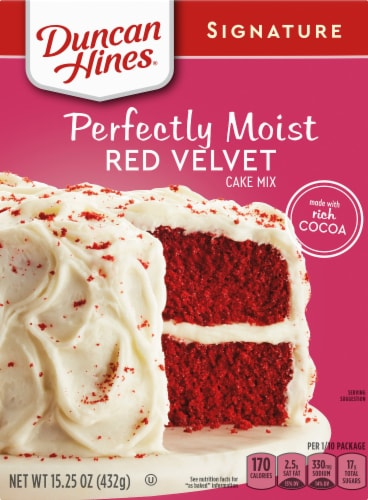Duncan Hines Perfectly Moist Red Velvet Cake Mix Perspective: front