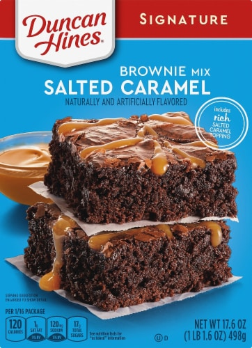 Duncan Hines Signature Salted Caramel Brownie Mix Perspective: front