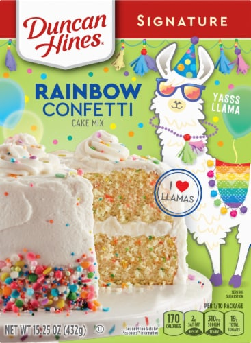 Duncan Hines Signature Confetti Cake Mix Perspective: front