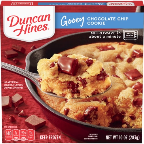 Duncan Hines Gooey Chocolate Chip Cookie Frozen Dessert Perspective: front