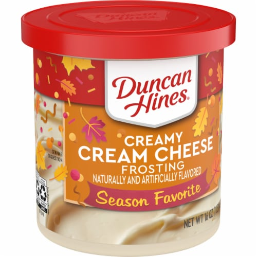 Duncan Hines Creamy Cream Cheese Frosting Perspective: front