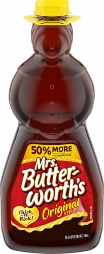Mrs. Butterworth's Regular Syrup Perspective: front