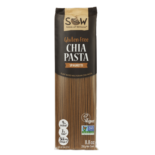 Seeds of Wellness Gluten-Free Chia Pasta Perspective: front