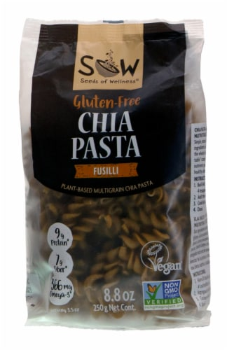 Seeds of Wellness Gluten Free Chia Fusilli Pasta Perspective: front