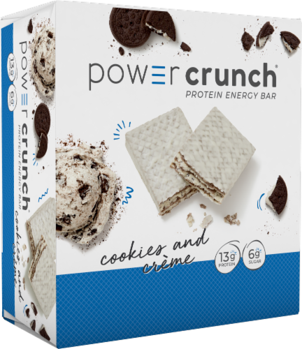 Power Crunch Original Cookies & Creme Protein Energy Bar Perspective: front