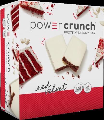 Power Crunch® Red Velvet Protein Energy Bar Perspective: front