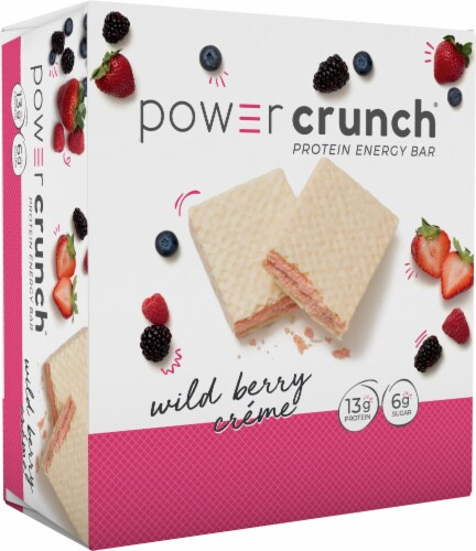 Power Crunch Wild Berry Creme Protein Energy Bars Perspective: front