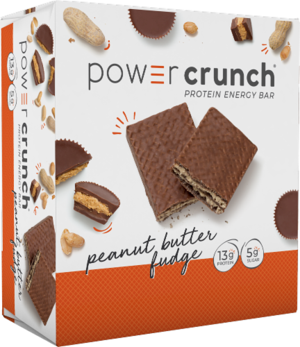 Power Crunch Peanut Butter Fudge Bars Perspective: front