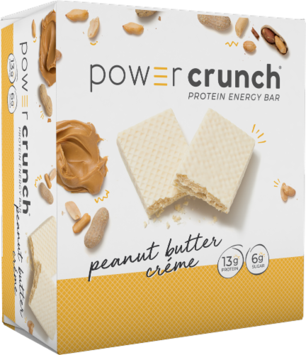 Power Crunch Peanut Butter Creme Energy Bars Perspective: front