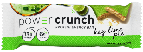 Power Crunch Key Lime Pie Flavor Protein Energy Bar Perspective: front