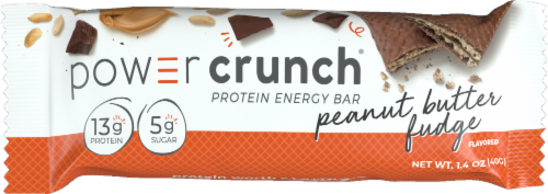 Power Crunch Peanut Butter Fudge Protein Energy Bar Perspective: front