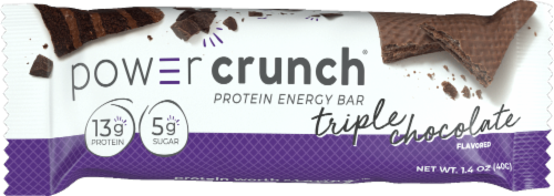 Power Crunch Triple Chocolate Protein Energy Bar Perspective: front