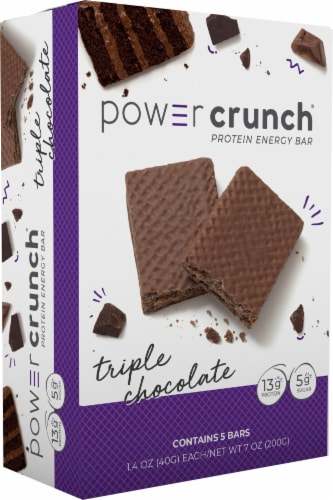 Power Crunch Triple Chocolate Protein Energy Bars Perspective: front