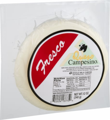 Queso Campesino Fresco Whole Milk Cheese Perspective: front