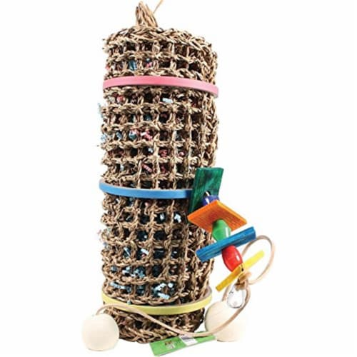 A&E Cage 001408 Happy Beaks Vine Mat Roll Bird Toy Perspective: front