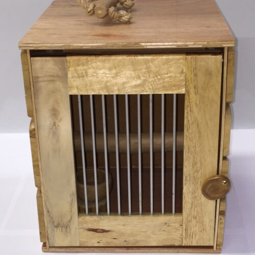 A&E Cage AE01120 Java Wood Rustic Bird Carrier - Large Perspective: front