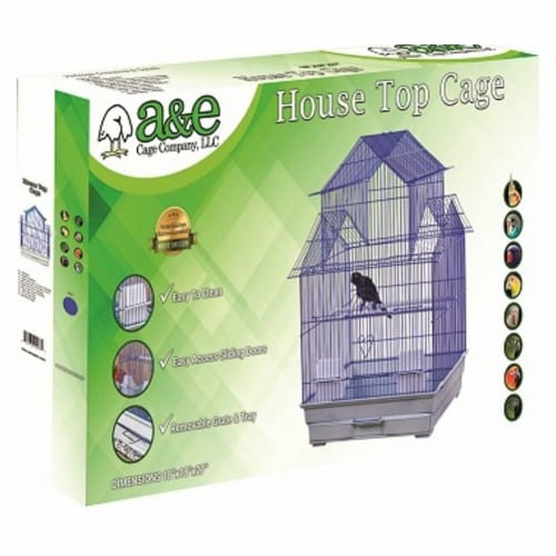 A&E Cage 644136 18 x 18 in. House Top Bird Cage Perspective: front