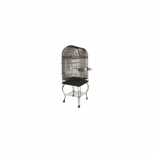 A&E Cage 600A Black Economy Dome Top Cage Perspective: front