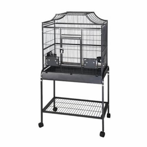 A&e Cages AE-MA2818FLS Elegant Style Flight Cage - Small-Sandstone Perspective: front