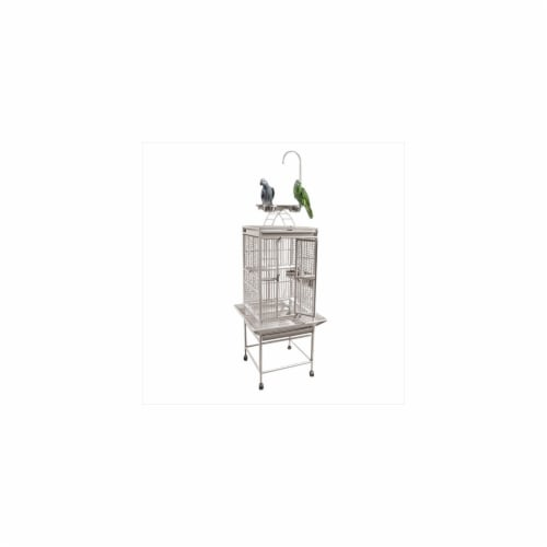 A&E Cage 8001818 White Play Top Cage With 0.63 In. Bar Spacing Perspective: front
