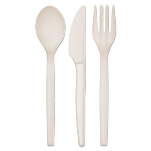 Wrapped Plant Starch Cutlery Kit with Napkin / 250-ct. case Perspective: front