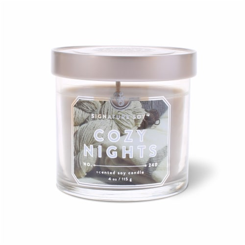 Signature Soy Cozy Nights Candle Perspective: front