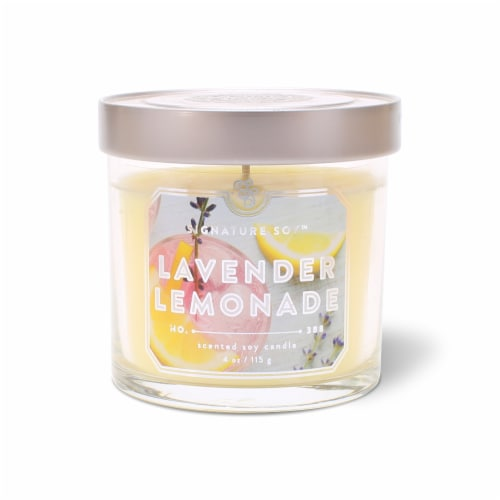 Signature Soy Lavender Lemonade Candle Perspective: front
