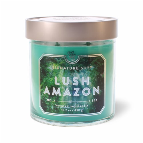 Signature Soy Lush Amazon Candle Perspective: front