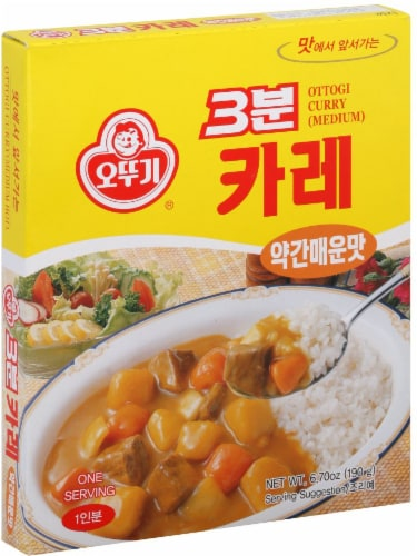 Ottogi 3 Min Curry Sauce Medium Perspective: front