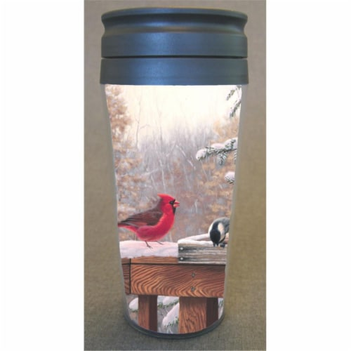 Songbird Essentials SEEK7602 Tableware Clear Black Poly Plastic Thermal Mug Entertaining Frie Perspective: front
