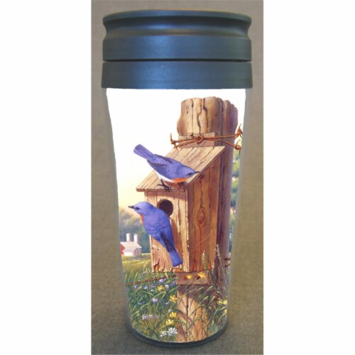Songbird Essentials SEEK7605 Poly Therm. Mug Summer Bluebird Perspective: front