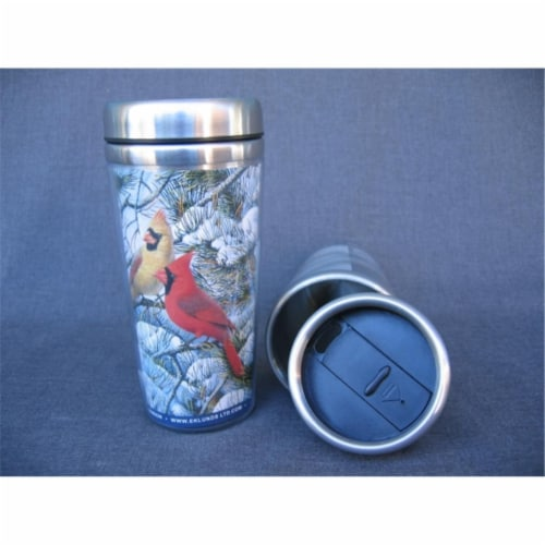 Songbird Essentials SEEK7501 7.5'' x 3.5'' x 3.5'' Fire in the Snow Thermal Mug Perspective: front