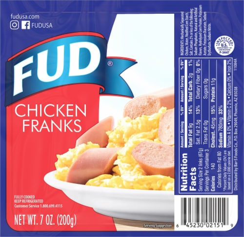 FUD Chicken Franks Perspective: front
