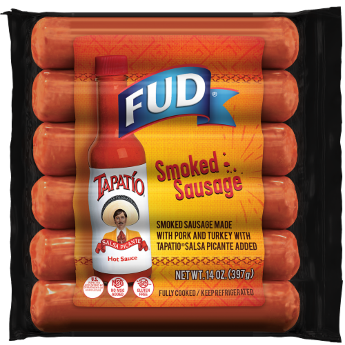 FUD Tapatio Smoked Sausage Perspective: front