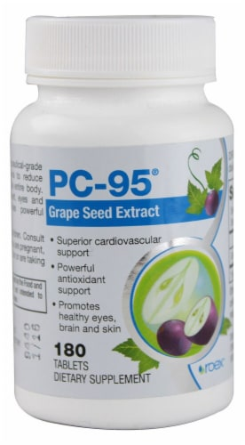 Roex PC-95 Grape Seed Extract Tablets Perspective: front
