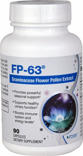 Roex FP-63 Graminaceae Flower Pollen Extract Capsules Perspective: front