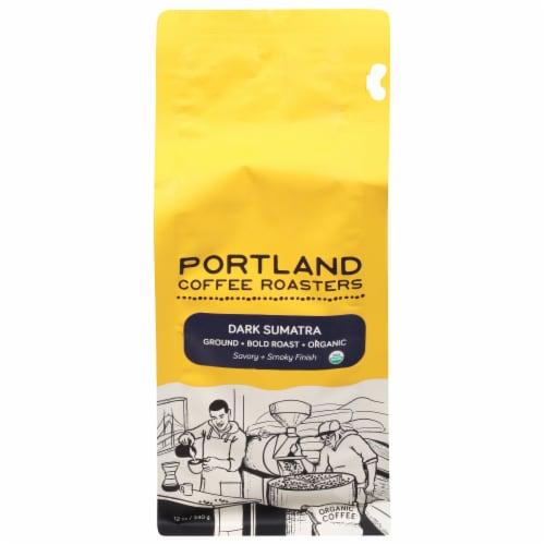 Portland Roasting Coffee Organic Dark Sumatra Ground Coffee Perspective: front