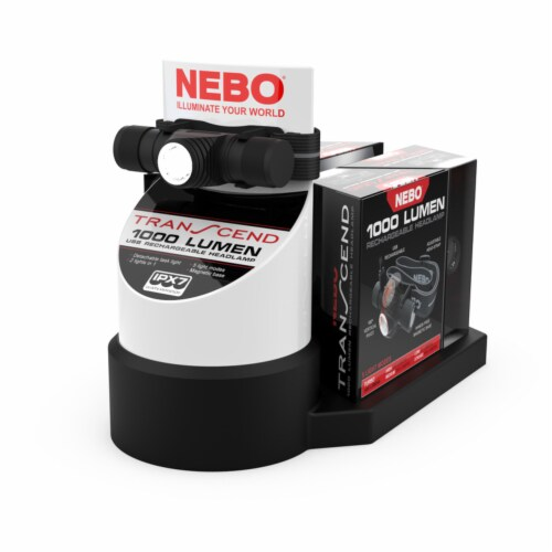 Nebo Transcend Black Head Lamp Display - Case Of: 1; Perspective: front