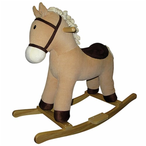 Charm 82528 Corduroy Colt Rocking Horse with Sounds - 29 x 12 x 19 in. Perspective: front