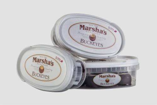 Marsha's Homemade Buckeyes Tub Perspective: front