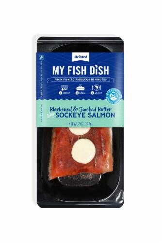My Fish Dish Blackened & Smoked Butter Sockeye Salmon Perspective: front
