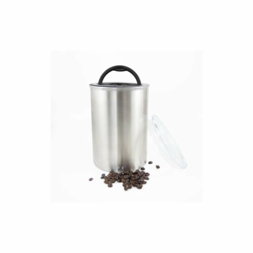 Planetary Design AirScape Coffee Food Storage Canister - Stainless Steel Perspective: front