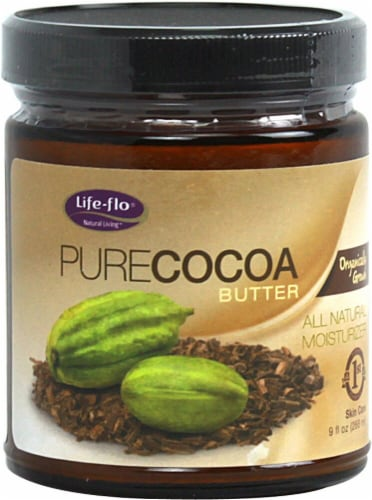 Life-Flo  Organic Pure Cocoa Butter Perspective: front