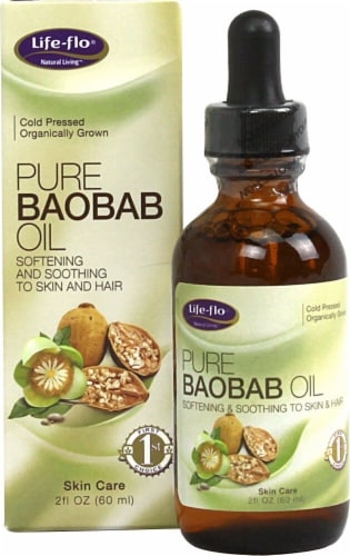 Life-Flo  Organic Pure Baobab Oil Perspective: front